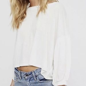 Free People Sugar Rush Long Sleeve Tee Top
